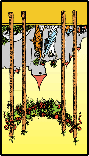 Four of Wands (Reverse)