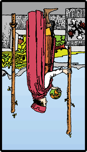 Two of Wands (Reverse)
