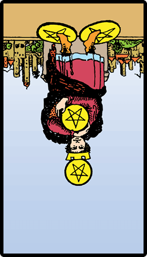 Four of Pentacles (Reverse)