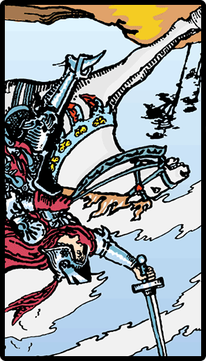 Knight of Swords (Reverse)