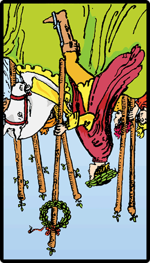 Six of Wands (Reverse)