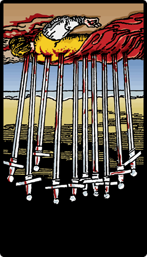 Ten of Swords (Reverse)
