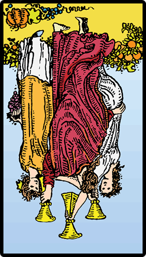 Three of Cups (Reverse)