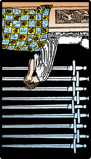 Nine of Swords (Reverse)