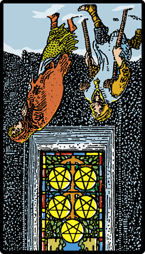 Five of Pentacles (Reverse)