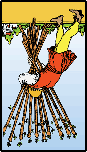 Ten of Wands (Reverse)