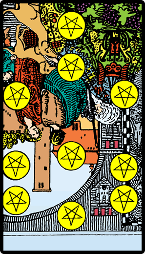 Ten of Pentacles (Reverse)