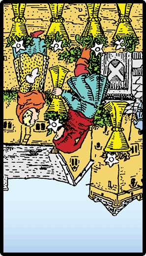 Six of Cups (Reverse)